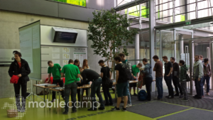 Einlass beim Mobilecamp